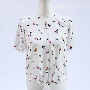 MADEWELL BUTTON BACK BLOUSE